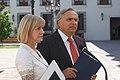 Ministro Secretario General de Gobierno,Andrés Chadwick Piñera junto a la Ministra del Trabajo y Previsión Social, Evelyn Matthei.jpg