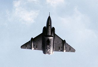 Dassault Mirage IV - Underside of a low-flying Mirage IV, 1986