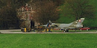 National Redoubt (Switzerland) - A Mirage IIIRS in front of the aircraft cavern Y in Buochs
