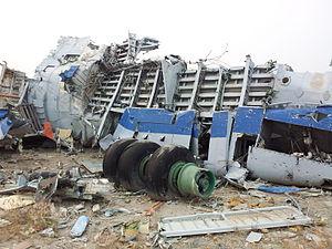 2009 Yakutia Ilyushin Il-76 crash - Image: Mirny plane crash 02