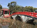 Misogibashi Bridge on pond of Aoi Aso Shrine.jpg