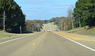 Mississippi Highway 7 - Highway 7 north of Oxford