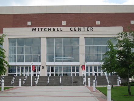 Entrance to the Mitchell Center at the University of South Alabama Mitchell center north entrance.jpg