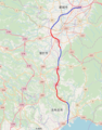 Miyakonojo-Shibushi-road map 2018.png