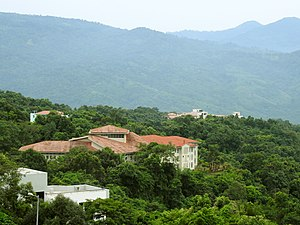 Mizoram University - Mizoram University with surrounding tropical forests in the campus