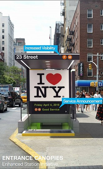 23rd Street station (PATH) - Image: Modernize the MTA (28110270580)