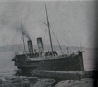 SS Mona's Isle (1882) - Mona's Isle ashore at Poolvaish