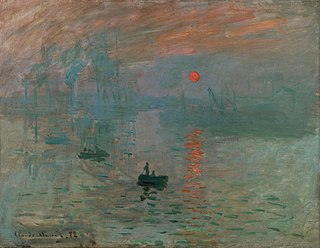<i>Impression, Sunrise</i> painting by Claude Monet, 1872