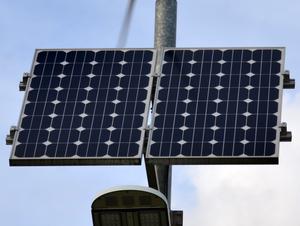 Monocrystalline silicon - Image: Monocrystalline solar panel