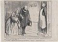 Monsieur le concierge, allant en soirée avec mon épouse..., from Les Portiers de Paris, published in Le Charivari, November 30, 1858 MET DP876726.jpg