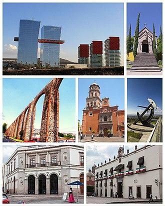 Querétaro City - Image: Montage de Santiago de Querétaro