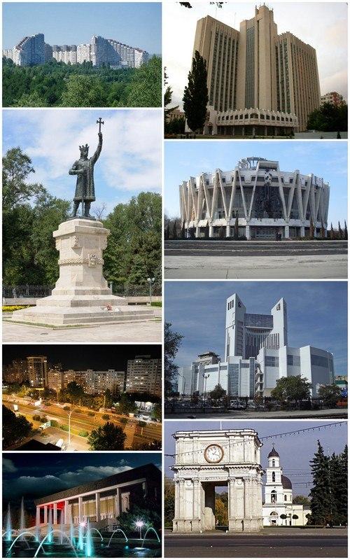 Montaj de imagini Commons a Chișinăului