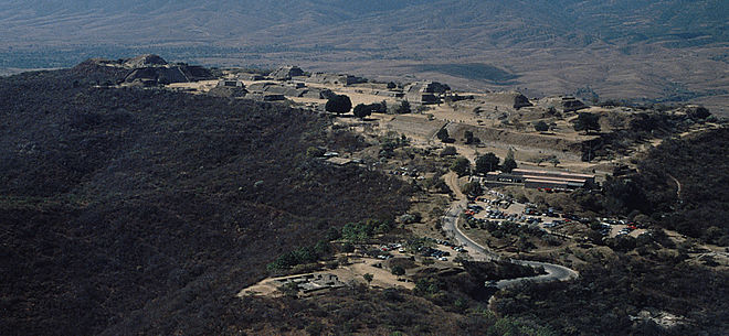 Looking southwest over the site of Monte Alban MonteAlban021.jpg