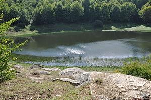 Accumoli - Lago Secco in the Monti della Laga.