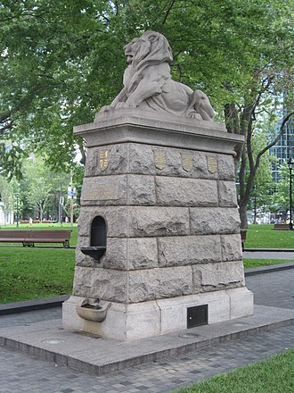 Lion of Belfort (Montreal) - The monument in 2017