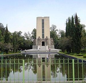 Battle of Celaya - Monument to Álvaro Obregón in the Parque de la Bombilla, Mexico City.