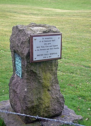 Bretby Hall - Monument for Bretby Hall Hospital