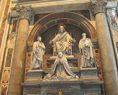 Monument in Saint Peter's Basilica Monument to Pope Pius VIII.jpg