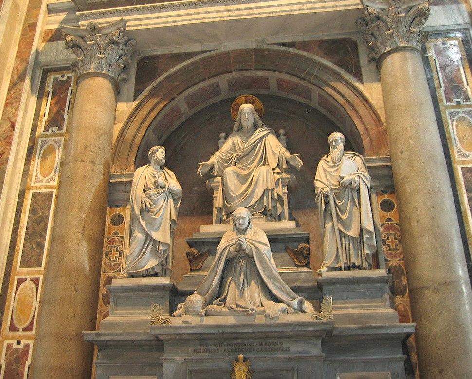 Monument to Pope Pius VIII
