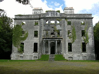George Moore (novelist) - The ruins of Moore Hall: abandoned after being burnt down by the IRA in 1923