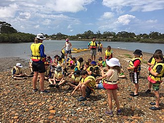 Boyne Island, Queensland - Moore Park State School Year 4 students at the Boyne Island Environmental Education Centre