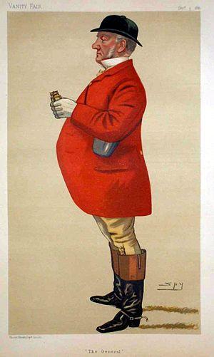 "Mordaunt Bisset - ""The General"" Bisset as caricatured by  Spy in Vanity Fair, December 1881"
