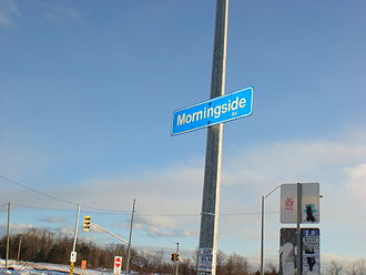 Morningside Heights, Toronto - View of Finch and Morningside Avenue, two major roadways in the neighbourhood.