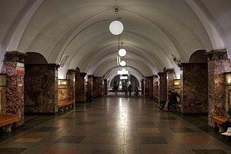 Dinamo (Moscow Metro) - Image: Mos Metro Dinamo platform 01 2016