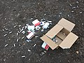 Mosa cream chargers fly-tipped at Bakers Hill car park 01.jpg