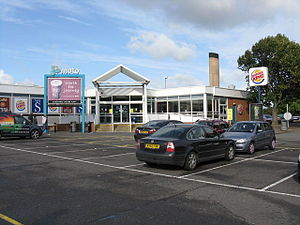 Frankley services - The northbound main building.