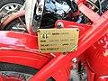 Moto Guzzi Airone Sport 250 (1953) FIM plaque.JPG