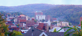 Morgantown, West Virginia - Downtown Morgantown from Fife Avenue