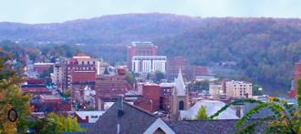 Morgantown, West Virginia - Downtown Morgantown from Fife Avenue