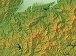 Mount Ishizuchi Relief Map, SRTM-1.jpg