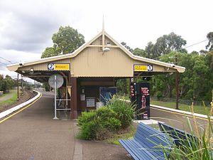 Mount Kuring-gai railway station - Northbound view in August 2007