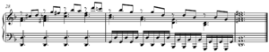Reduction (music) - Image: Mozart's Lacrimosa Czerny piano reduction end