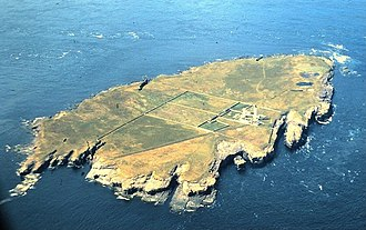 Muckle Skerry - Aerial photograph of Muckle Skerry