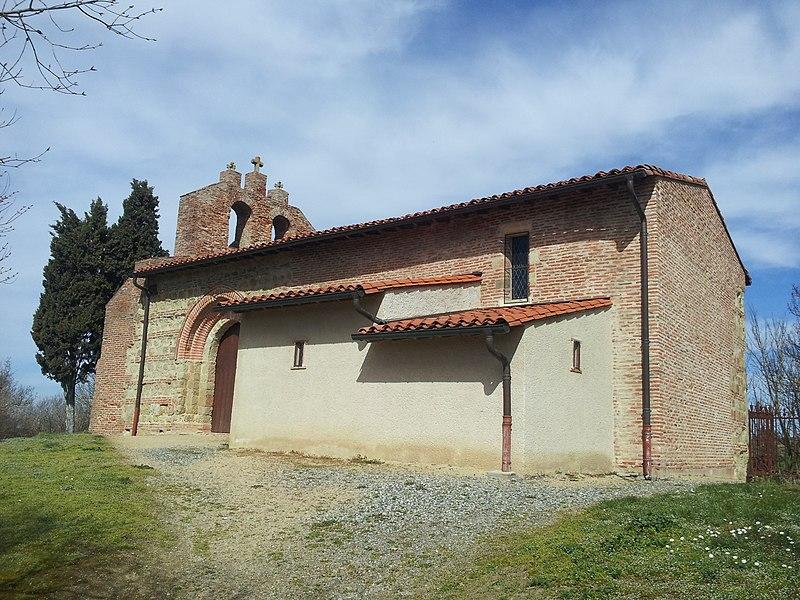 Chapelle Saint-Amans (commune de Muret, Haute-Garonne). Façade Sud