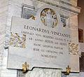Museo Pio-Clementino, targa leonardo da vinci.JPG