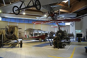 Museo dell'Aeronautica Gianni Caproni Ca.53, G.51bis, Ba.19 and M.C.200.JPG