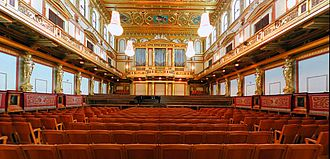 Culture of Austria - Golden Hall, from which the Vienna New Year's concert is broadcast
