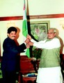 Muthukad with Prime Minister of India, Shri. Atal Bihari Vajpayee.tif