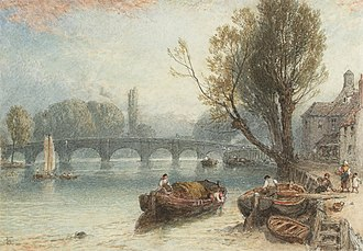 Kew Bridge - Myles Birket Foster's Kew Bridge from Strand on the Green