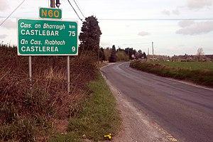 N60 road (Ireland) - Image: N60 road sign in Ballymoe
