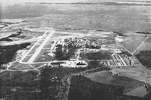 Chincoteague, Virginia - Aerial view of the Naval Auxiliary Air Station Chincoteague in the mid-1940s