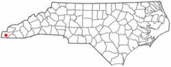 Location of Murphy, North Carolina