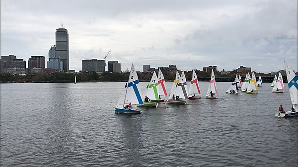 NEISA regatta held in fleet of MIT Fire Fly Dinghies on the Charles River NEISA Sailing Regatta.jpg