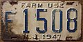NEW JERSEY 1947 -FARM USE LICENSE PLATE - Flickr - woody1778a.jpg