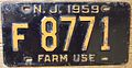 NEW JERSEY 1959 -FARM USE LICENSE PLATE - Flickr - woody1778a.jpg