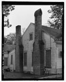 NORTHEAST ELEVATION, CHIMNEYS. - Ambrose R. Wright House, 702 Green Street, Louisville, Jefferson County, GA HABS GA-2222-7.tif